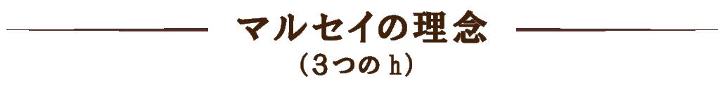 マルセイの理念(3つのh)