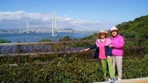 明石大橋と姉たち