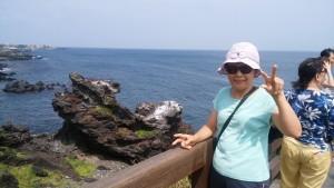 済州島龍頭岩