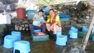 済州島海女と鮑