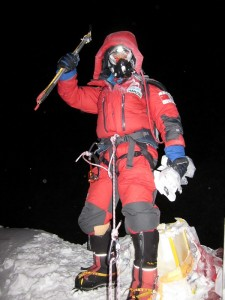 エベレスト山頂小